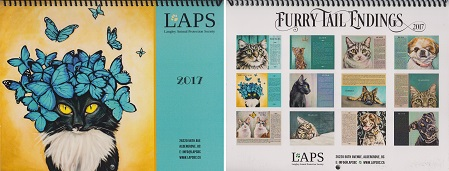 2017 LAPS Furry Tail Endings Calendar (front and back)