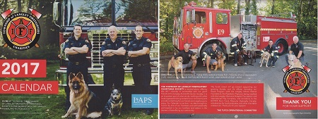 2017 LAPS and Langley Firefighters Calendar (front and back)